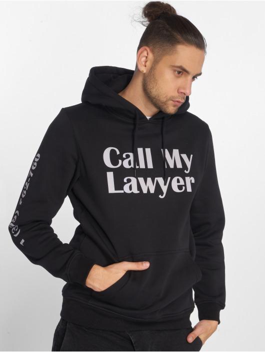 Mister Tee Bluzy z kapturem Lawyer czarny