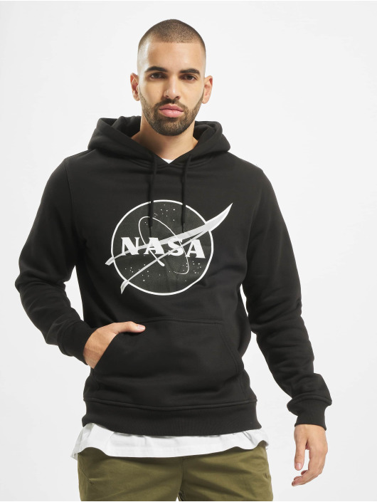 Mister Tee Bluzy z kapturem Nasa Black-And-White Insignia czarny
