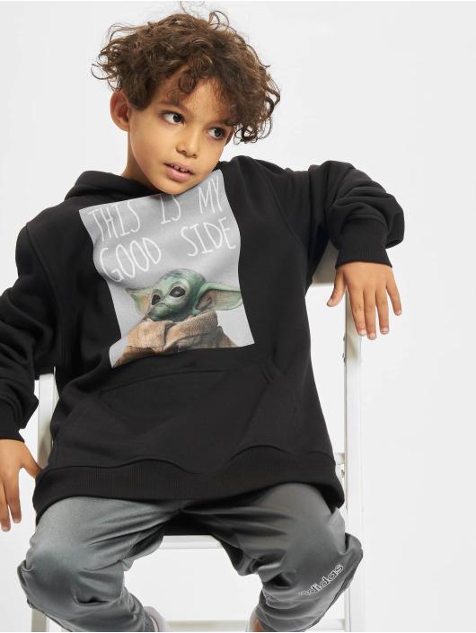 Mister Tee Bluzy z kapturem Kids The Mandalorian The Child Good Side czarny