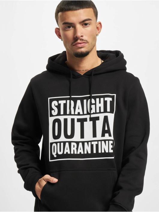 Mister Tee Bluzy z kapturem Straight Outta Quarantine czarny