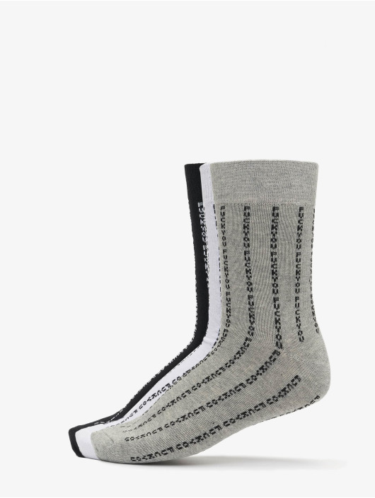 Mister Tee Calcetines Fuck You Socks 3-Pack negro