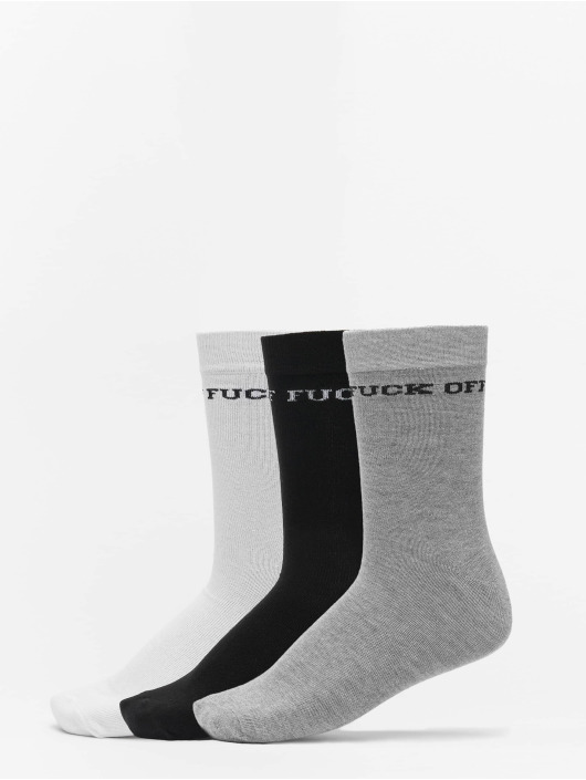 Mister Tee Calcetines Fuck Off Socks 3-Pack negro