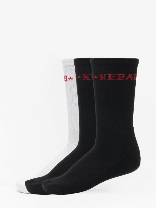 Mister Tee Calcetines Kebab Socks 3-Pack negro