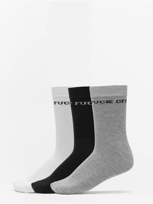 Mister Tee Calzino Fuck Off Socks 3-Pack nero