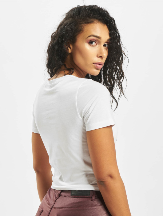 Mister Tee Camiseta Broken Dreams Cropped blanco