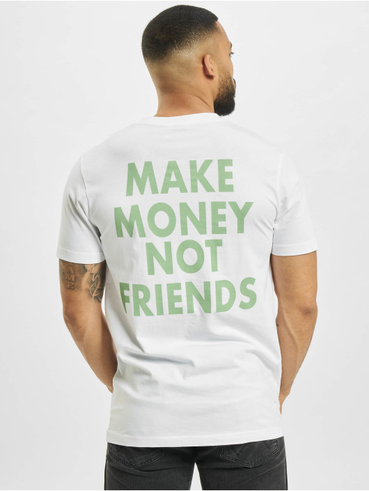 Mister Tee Camiseta Make Money Not Friends blanco