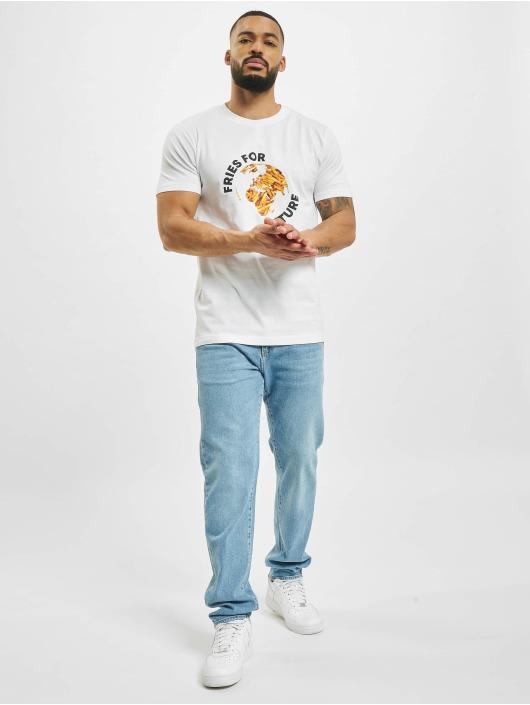 Mister Tee Camiseta Fries For Future blanco