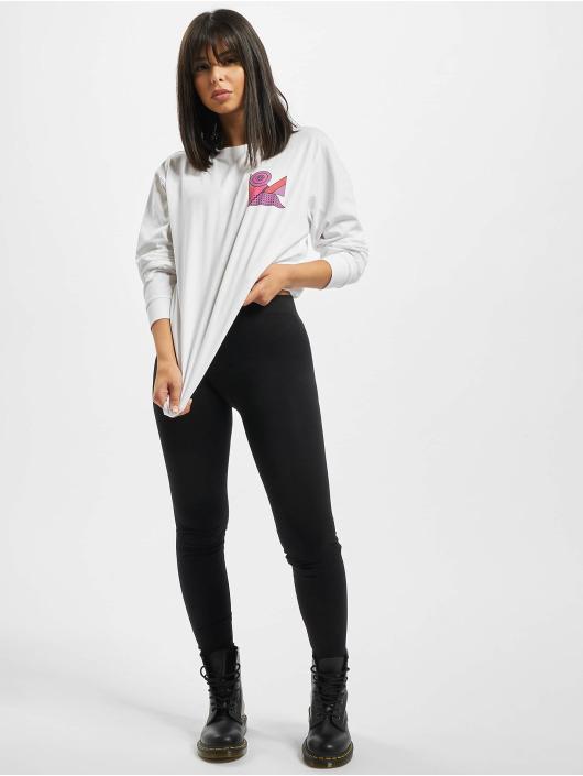 Mister Tee Camiseta de manga larga Ladies Abstract Colour blanco