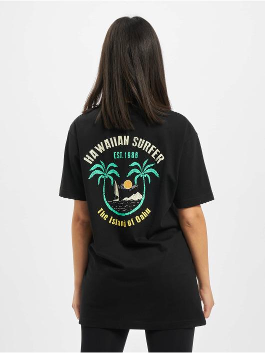 Mister Tee Camiseta Ladies Hawaiian Surfer negro