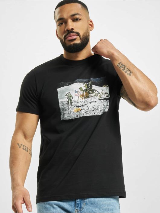 Mister Tee Camiseta Pizza Moon Landing negro