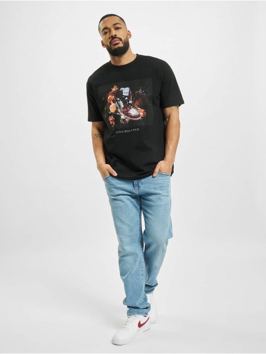 Mister Tee Camiseta Renairssance Painting Oversize negro