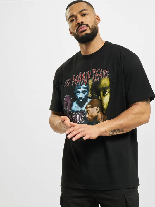 Mister Tee Camiseta Tupac So Many Tears Oversize negro