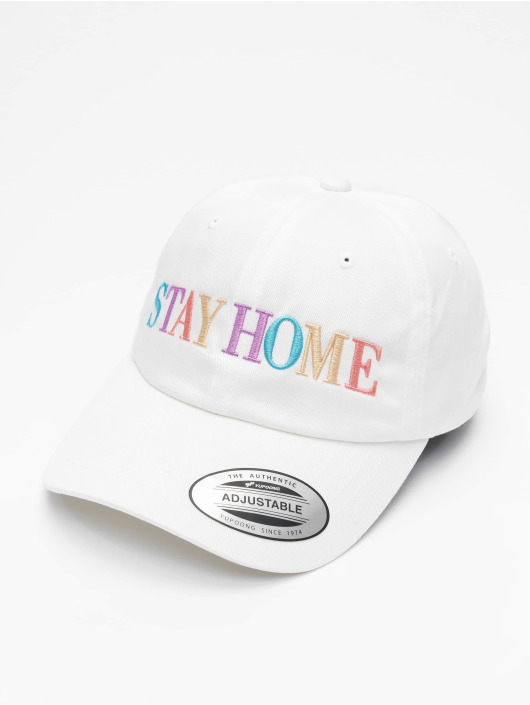 Mister Tee Casquette Snapback & Strapback Stay Home Emb blanc