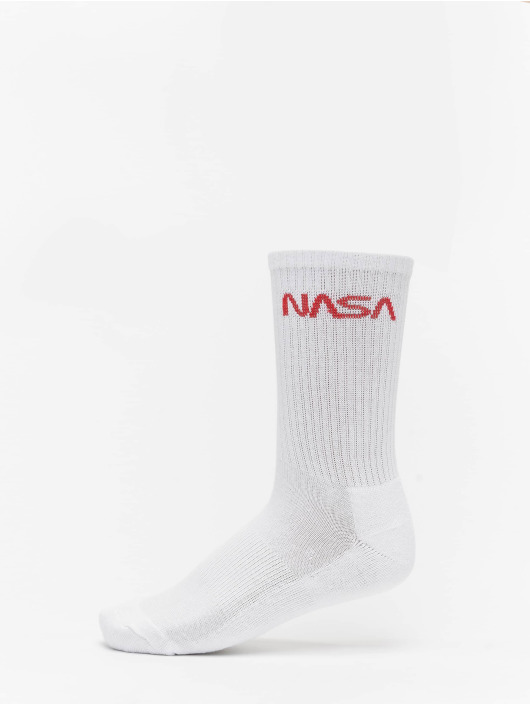 Mister Tee Chaussettes NASA Worm Logo 3-Pack blanc