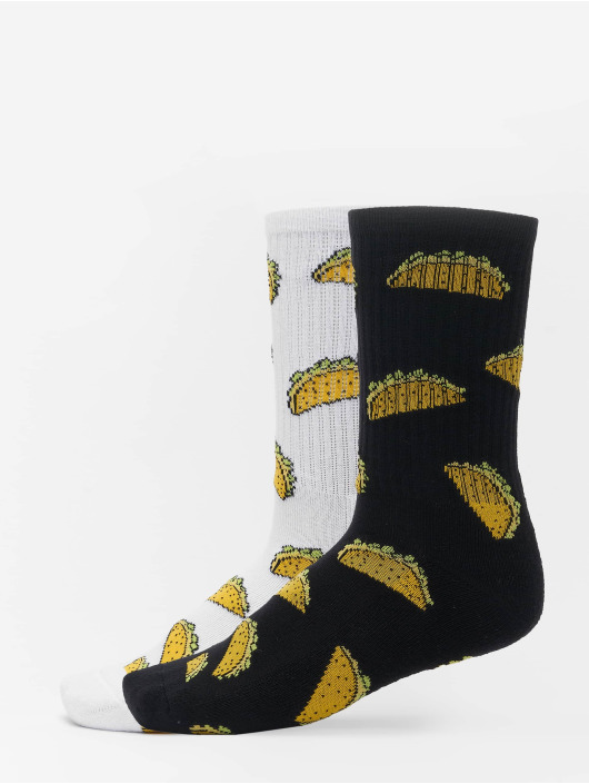 Mister Tee Chaussettes Taco 2-Pack blanc