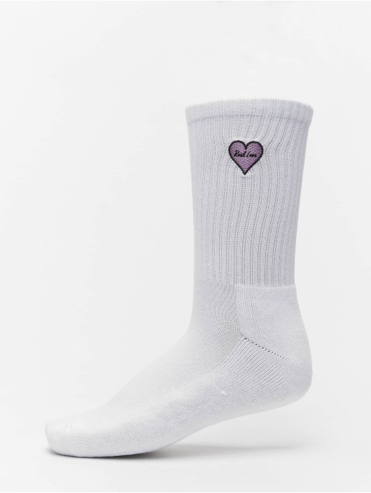Mister Tee Chaussettes Heart Embroidery 3 Pack blanc