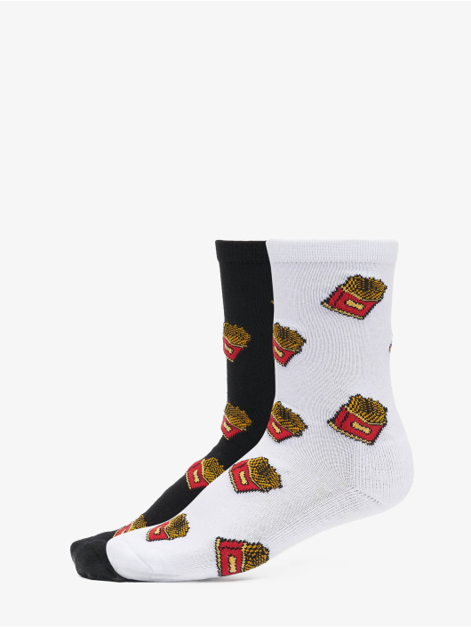 Mister Tee Chaussettes French Fries noir