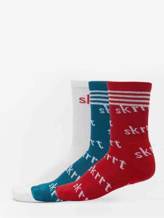 Mister Tee Chaussettes Skrrt Aop rouge