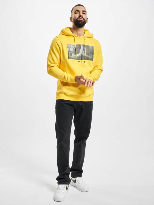 Mister Tee Felpa con cappuccio Pray giallo