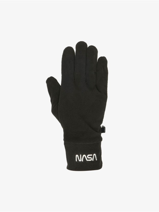 Mister Tee handschoenen NASA Fleece Set zwart