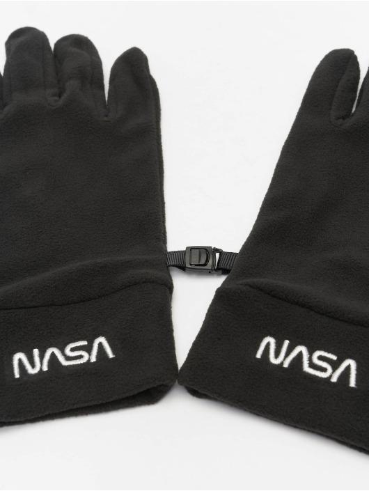 Mister Tee Handschuhe NASA Fleece Set schwarz