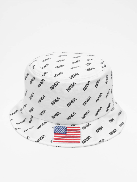 Mister Tee Hat Nasa Allover Bucket white