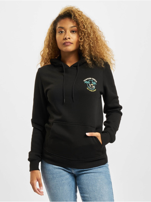 Mister Tee Hoodie Ladies Hawaiian Surfer black