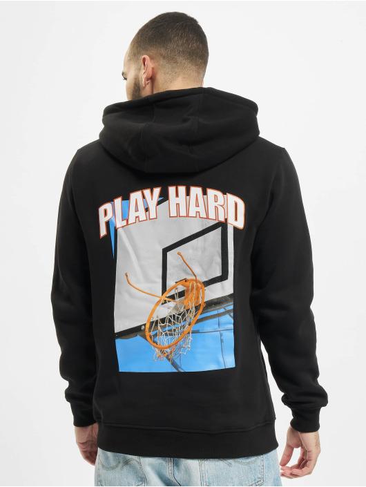 Mister Tee Hoodie Play Hard svart