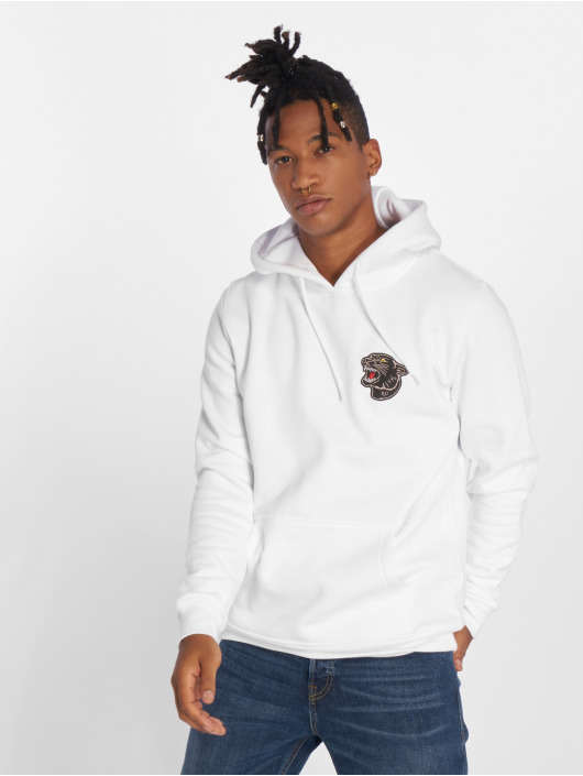 Mister Tee Hoodie Embroidered white