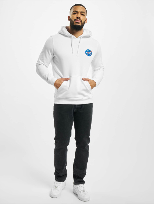 Mister Tee Hoodie Nasa Insignia Logo Emb white