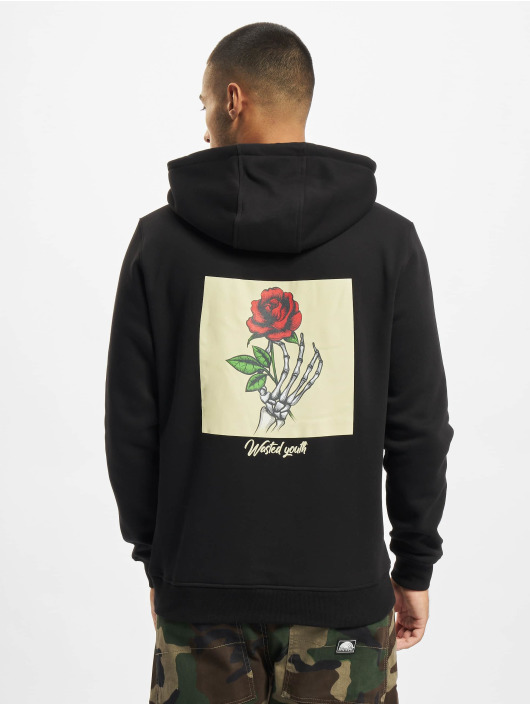 Mister Tee Hoodies Wasted Youth čern