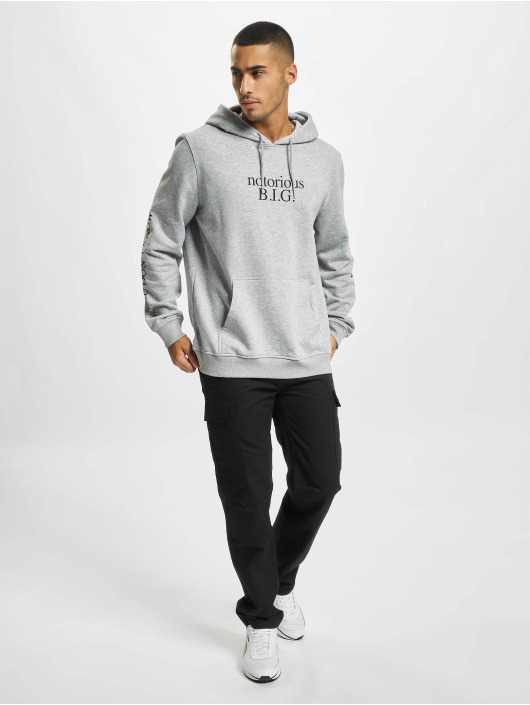 Mister Tee Hoodies Notorious BIG You Dont Know šedá