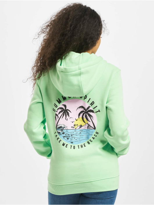Mister Tee Hoody Ladies Summer Spirit grün