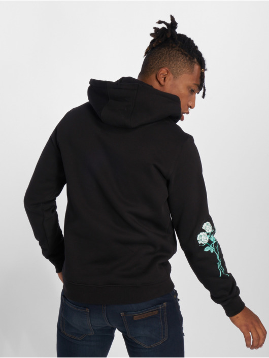 Mister Tee Hoody Rose Fake Love schwarz