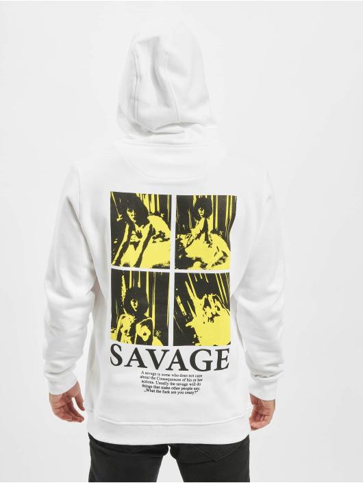 Mister Tee Hoody Savage Emb weiß