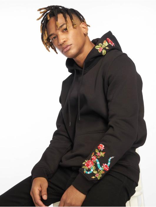 Mister Tee Hoody Flowers Embroidery zwart