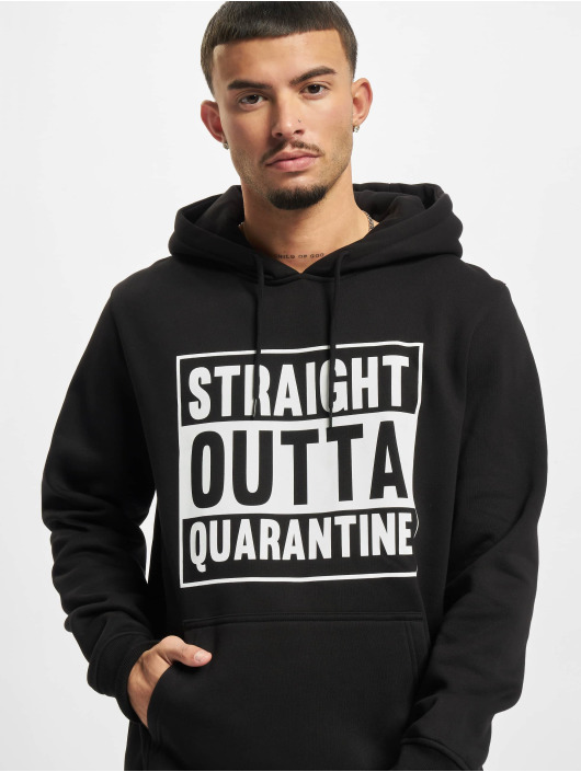 Mister Tee Hoody Straight Outta Quarantine zwart
