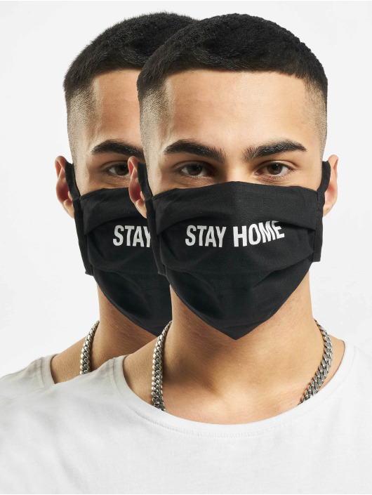 Mister Tee Iné Stay Home Face Mask èierna