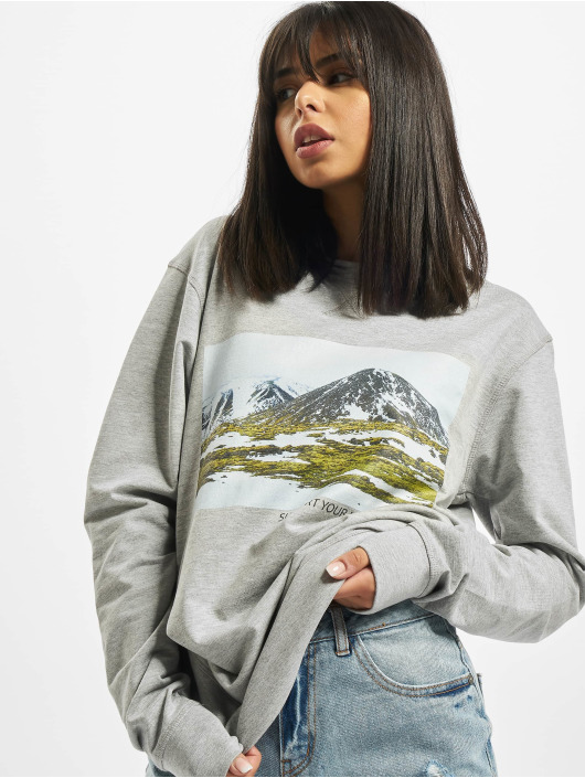 Mister Tee Jumper Ladies Local Planet Crewneck grey