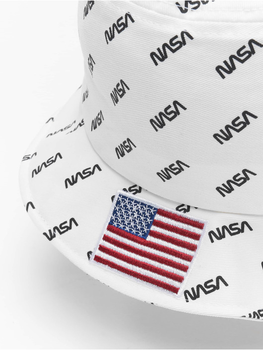 Mister Tee Kapelusze Nasa Allover Bucket bialy