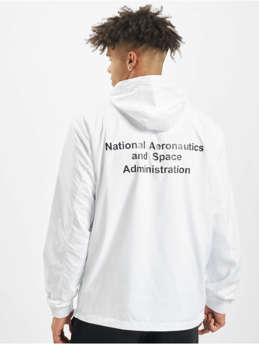 Mister Tee Lightweight Jacket NASA Worm Logo white