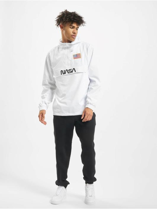 Mister Tee Lightweight Jacket NASA Worm Logo white