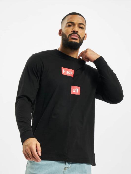 Mister Tee Longsleeve Fuck Off Split black