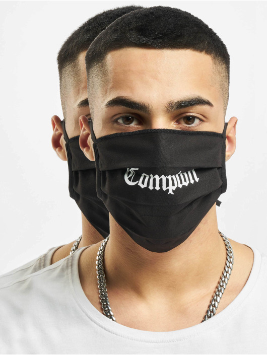 Mister Tee More Compton Face Mask 2-Pack black