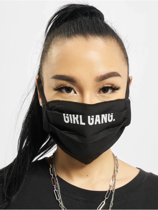 Mister Tee More Girl Gang Face Mask 2-Pack black