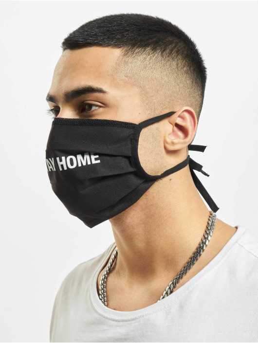 Mister Tee More Stay Home Face Mask black