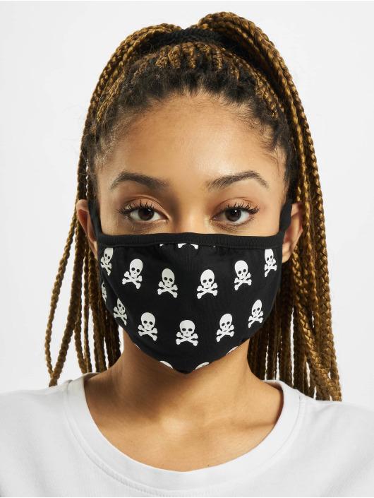 Mister Tee More Skull Face Mask 2-Pack black