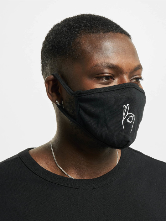 Mister Tee More Easy Face Mask black
