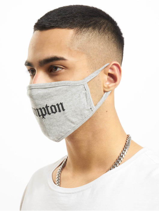 Mister Tee More Compton Face Mask grey