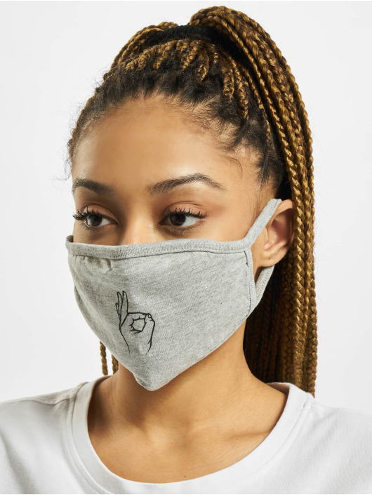Mister Tee More Easy Face Mask grey